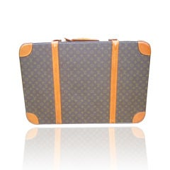 Louis Vuitton Classic Monogram Hard Sided Vintage Suitcase