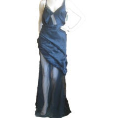 Olivier Theyskens for Nina Ricci Sheer Gown sz 38 (6)