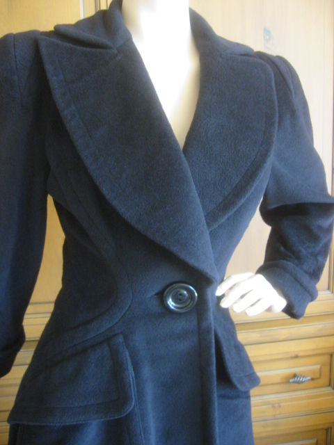 Thierry Mugler Wonderful Detailed Cashmere / Wool Coat