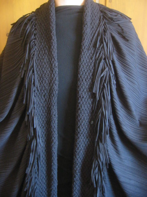 Women's Issey Miyake Pleated and Fringed Wrap