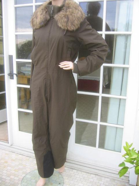Women's Prada Gor Tex Fur Trimmed One piece Ski Suit sz L