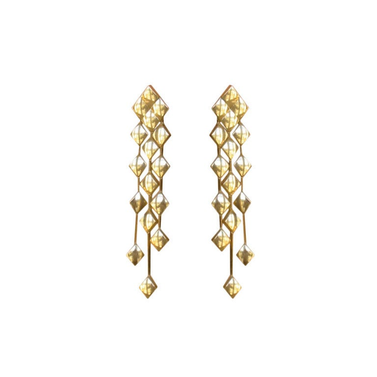 Chanel Metalesse Collection 18 Kt Gold Earrings 1
