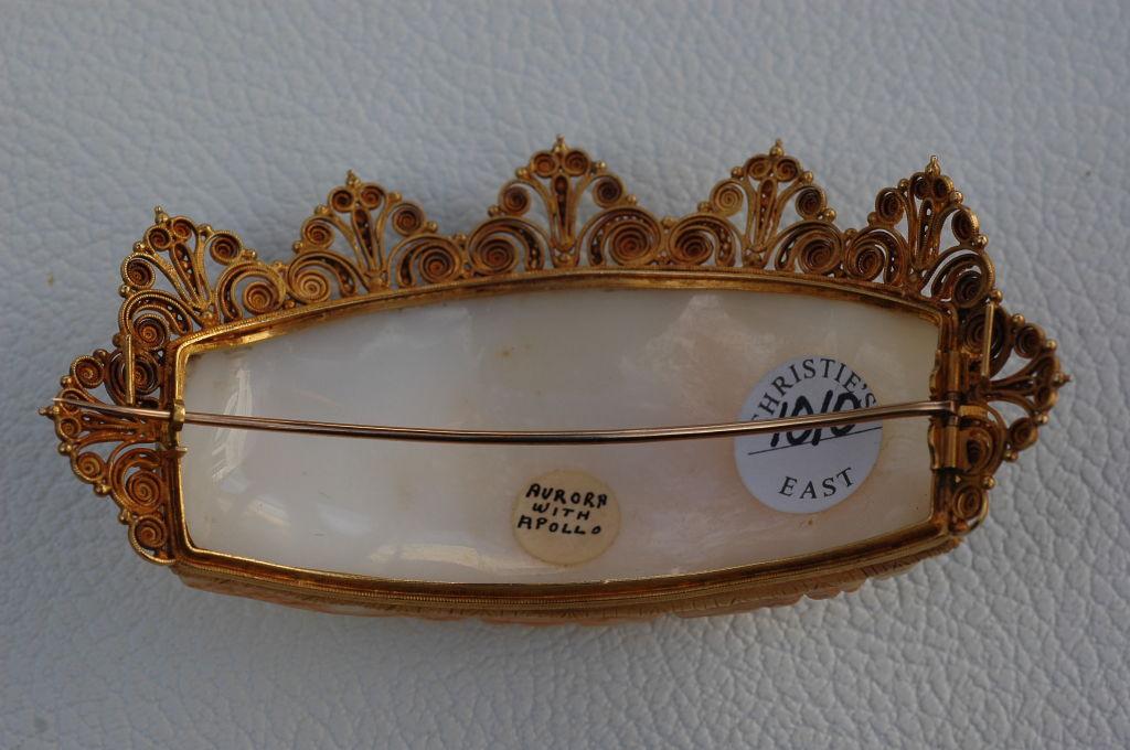 Barbra Streisand's exquisite 1860 Cameo Pin Aurora & Apollo 3