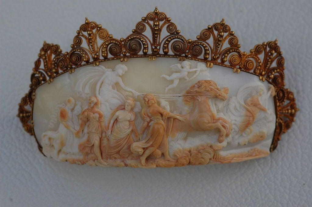 Barbra Streisand's exquisite 1860 Cameo Pin Aurora & Apollo 4