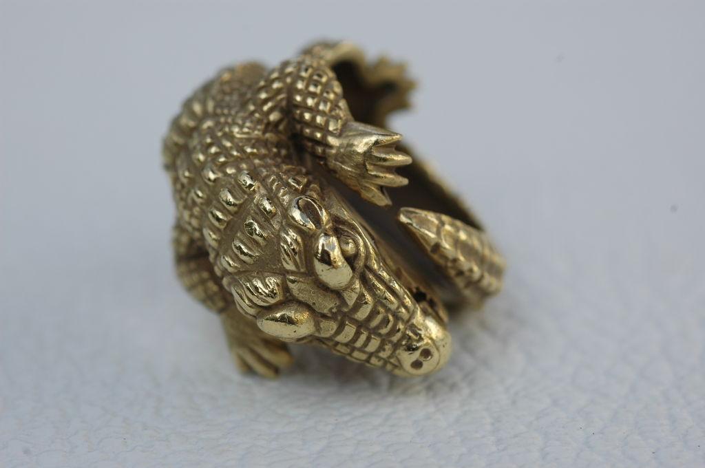 Barry Kieselstein-Cord 18 kt Gold  Alligator Ring 2