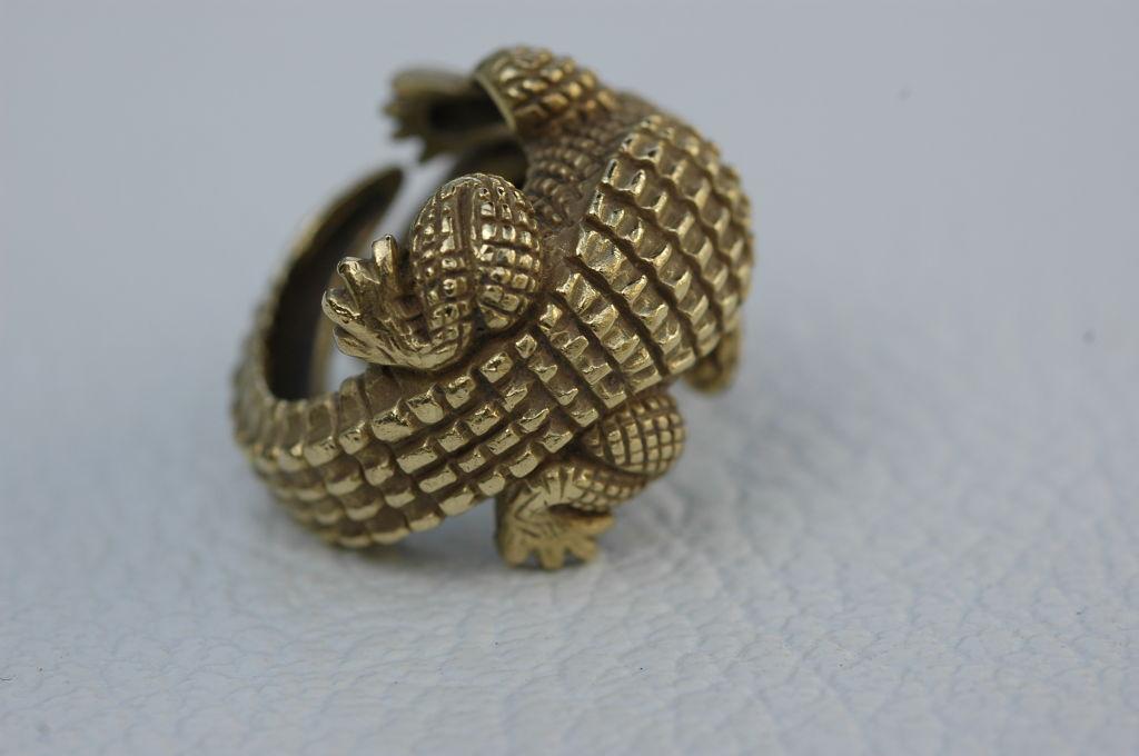 Barry Kieselstein-Cord 18 kt Gold  Alligator Ring 3