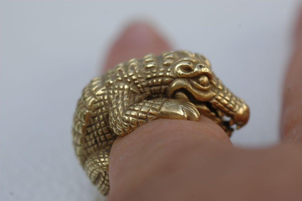 Barry Kieselstein-Cord 18 kt Gold  Alligator Ring 4