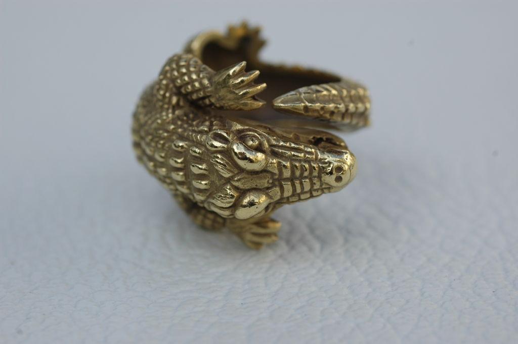 Barry Kieselstein-Cord 18 kt Gold  Alligator Ring 6