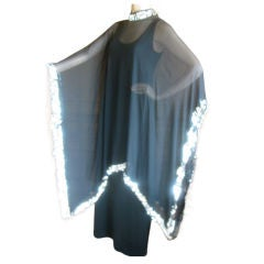 Gown with sequin cape by Don Loper