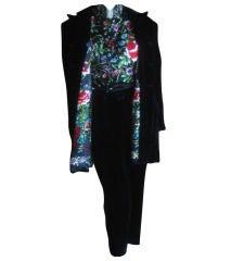 Richard Tyler Luxe 4 piece Silk Velvet Tux w Embroidery L