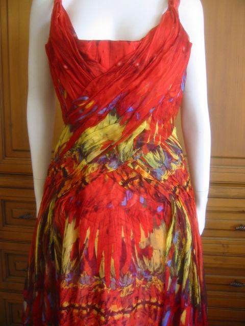 Alexander McQueen Rare Parrot Dress Spring 03 sz 42 5