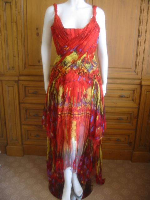 Alexander McQueen Rare Parrot Dress Spring 03 sz 42 6