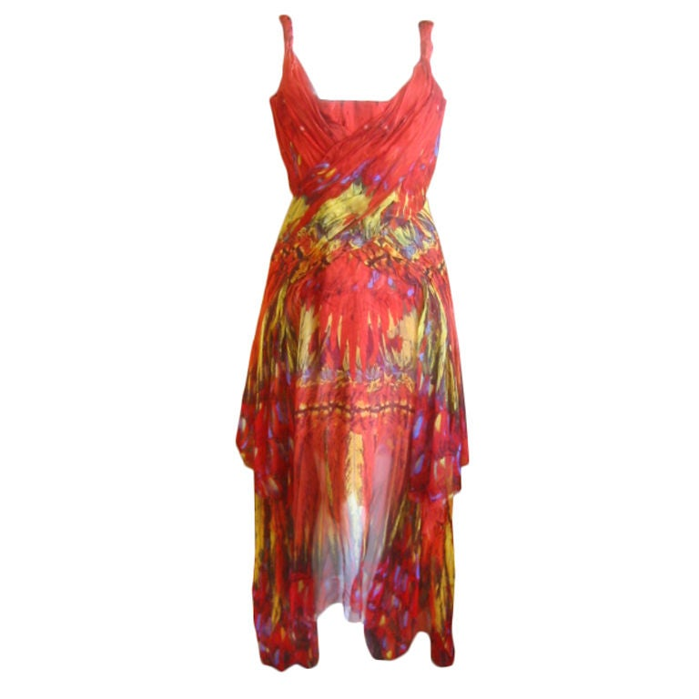 Alexander McQueen Rare Parrot Dress Spring 03 sz 42 1