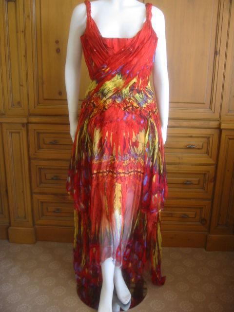 Alexander McQueen Rare Parrot Dress Spring 03 sz 42 9