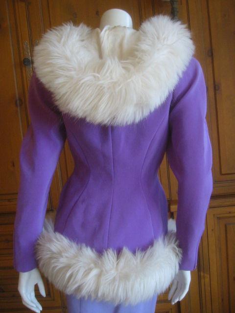 Thierry Mugler Rockin Ski Jacket w Faux Fur Hood and Trim 2
