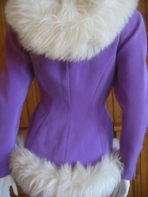 Thierry Mugler Rockin Ski Jacket w Faux Fur Hood and Trim 4