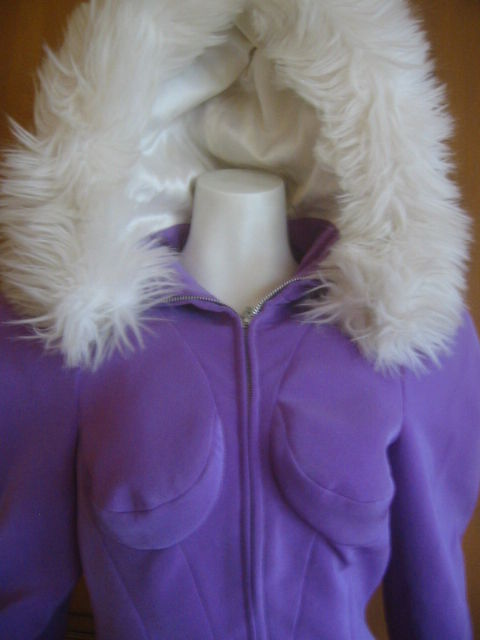 Thierry Mugler Rockin Ski Jacket w Faux Fur Hood and Trim 6