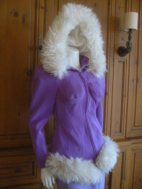 Thierry Mugler Rockin Ski Jacket w Faux Fur Hood and Trim 7