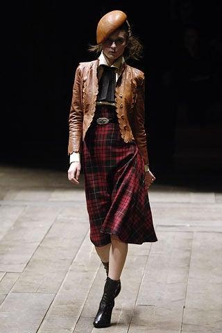758d002e65 Alexander McQueen Tartan high waisted Skirt