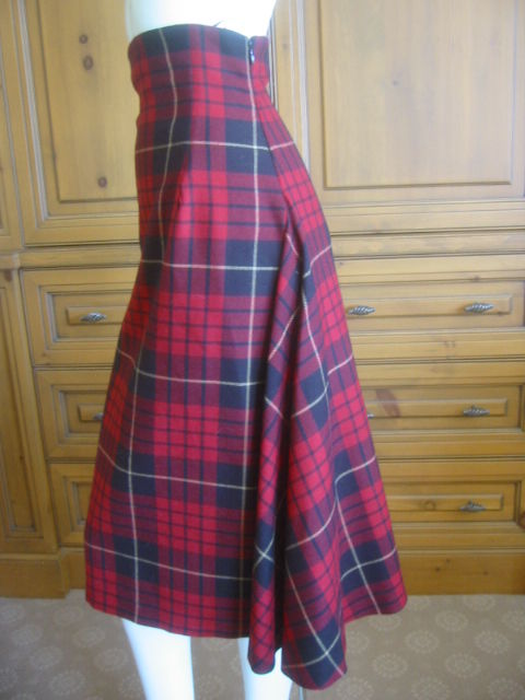 mcqueen tartan high waisted skirt quot widows of