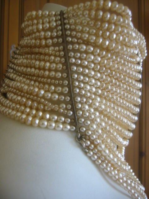Christian Dior Spring 2007 Couture Masai Pearl Necklace For Sale 2