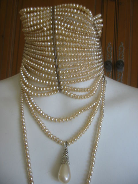 Christian Dior Spring 2007 Couture Masai Pearl Necklace For Sale 3