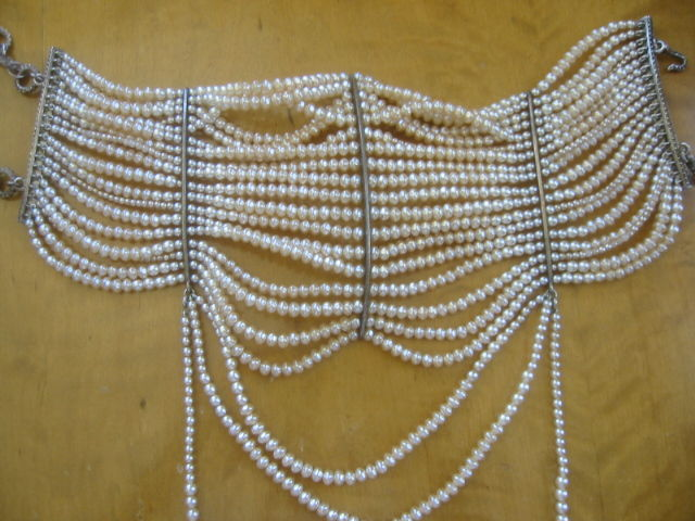 Christian Dior Spring 2007 Couture Masai Pearl Necklace For Sale 5