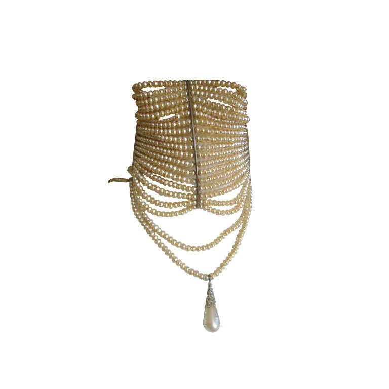 Christian Dior Spring 2007 Couture Masai Pearl Necklace For Sale