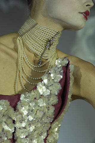 Contemporary Christian Dior Spring 2007 Couture Masai Pearl Necklace For Sale