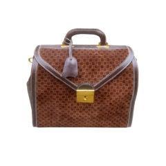 Gucci 70's Suede/Leather Dr's Satchel Logo Bag