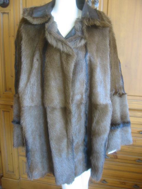 Hermes Margiela reversable leather to fur jacket 2
