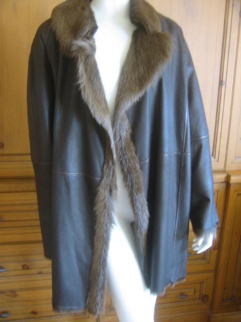 Hermes Margiela reversable leather to fur jacket 3