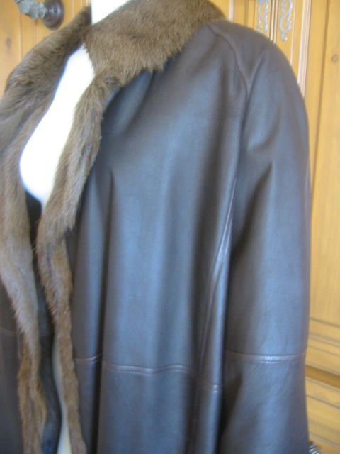 Hermes Margiela reversable leather to fur jacket 4