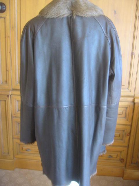Hermes Margiela reversable leather to fur jacket 5