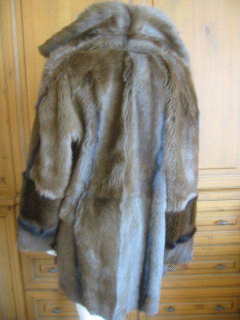 Hermes Margiela reversable leather to fur jacket 6
