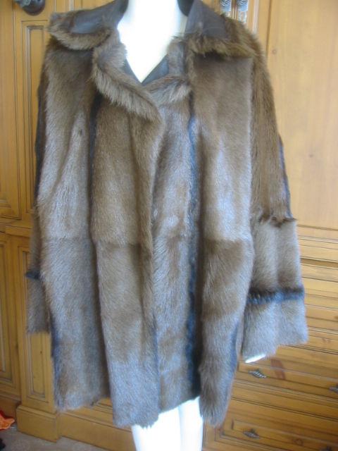 Hermes Margiela reversable leather to fur jacket 7