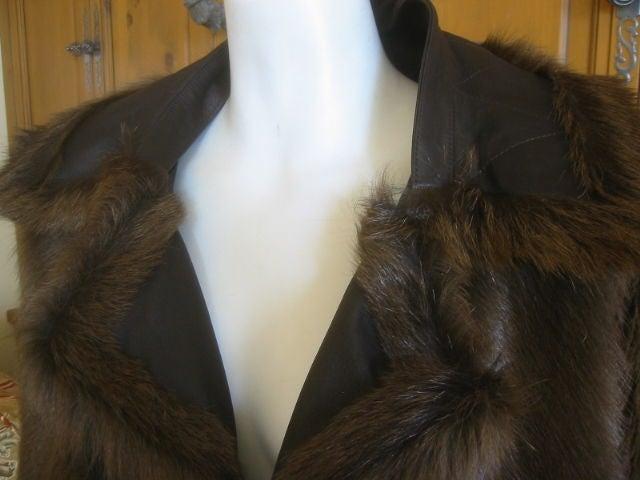 Hermes Margiela reversable leather to fur jacket 8