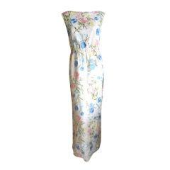 Luis Estevez beaded floral gown with scoop back