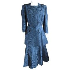 Gibert Adrian 1940's silk suit