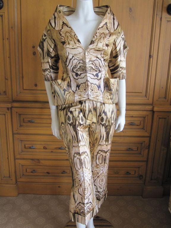 Alexander Mcqueen Wood Grain Suit Spring 09 Sz 42 At 1stdibs