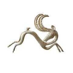 ilias lalaounis gold antelope pin