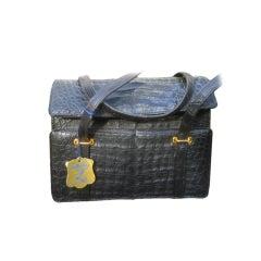 Lucille de Paris matte Crocodile hand bag
