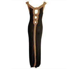 Jean Paul Gaultier sexy back cut out long dress