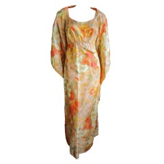 Helen Rose silk floral dress with matching wrap