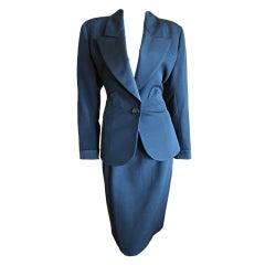 Yves Saint Laurent classic vintage le smoking suit sz  38