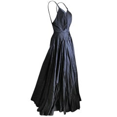 Jacques Griffe 1950 Haute Couture evening gown