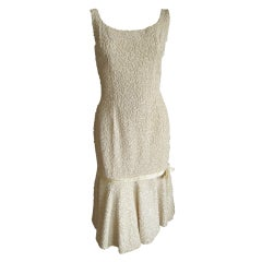 Jacques Heim fitted ivory beaded dress
