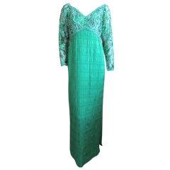 Michael Novarese Green Dress