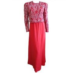 Maichael Novarese elegant red dress