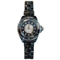 Chanel J12 Diamond Dial Black Watch